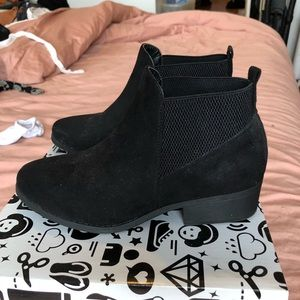 Shoes - Black suede booties brand new